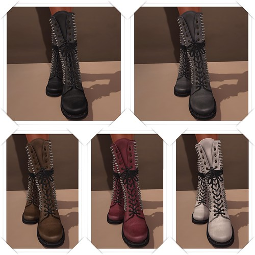 Studded High Boots