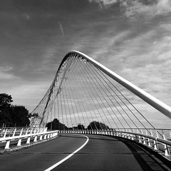 Calatrava designed bridge Liege