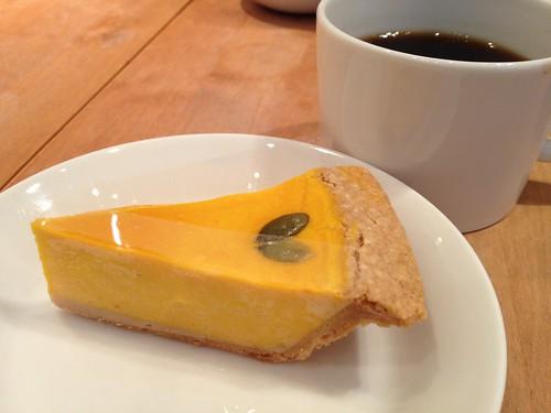私が注文したのはかぼちゃのチーズケーキ@麻布チーズケーキ サンクサンク