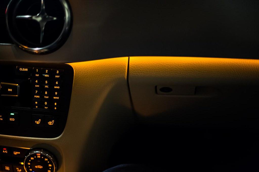 Mercedes Benz GLK interior dark