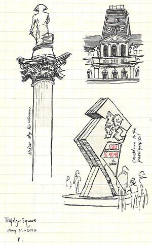 quick trafalgar square sketches