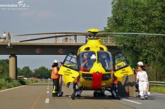 Schwerer Verkehrsunfall A60 Heidesheim 26.07.12