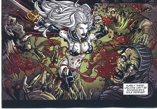 Lady Death vs, zombie soldiers