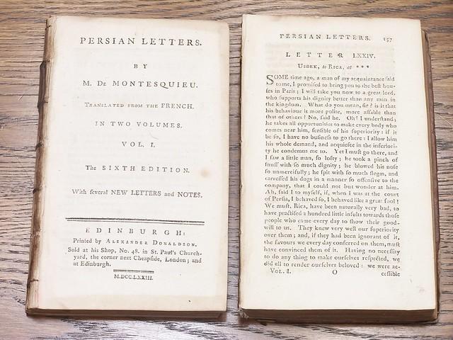 •1773 Montesquieu Persian Letters vol 2- 08