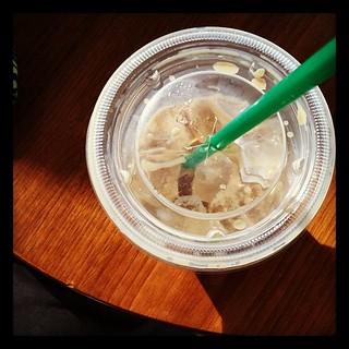 Iced latte #photoadayapril #circle
