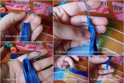 Detailed 5 steps for making tassel