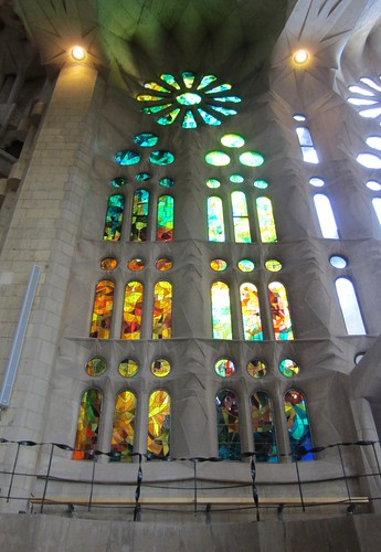 windows at la sagrada familia