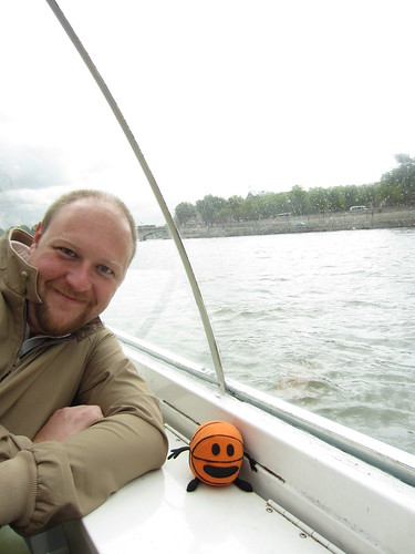 matt and bally on the batobus on the seine