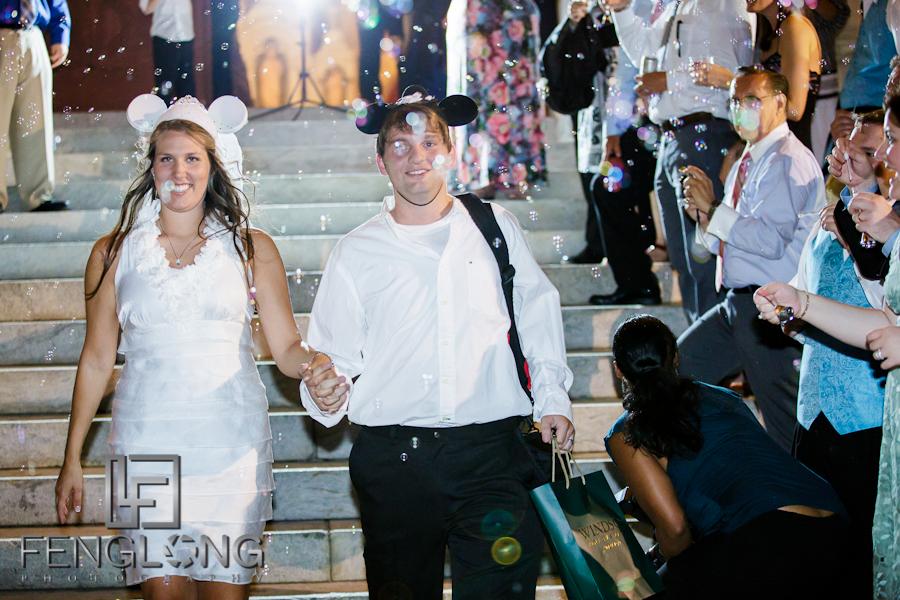 Wedding Exit | Sarah & Alex's Wedding | Sacred Heart Cultural Center | Augusta Destination Wedding Photographer