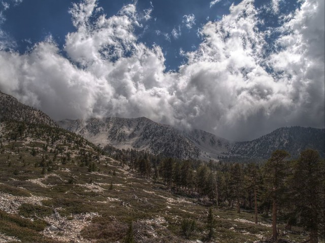 HDR shot of Jepson Peak from the Dry Lake Trail below Mineshaft Saddle