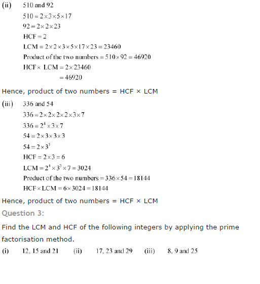 NCERT Solutions for Class 10th Maths: Chapter 1 - Real ...