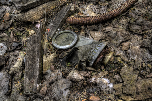 Abandoned gas mask.