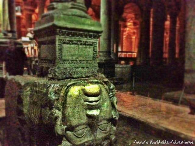 Medusa's Head at the Basilica Cistern