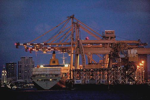 Matson cranes Manoa