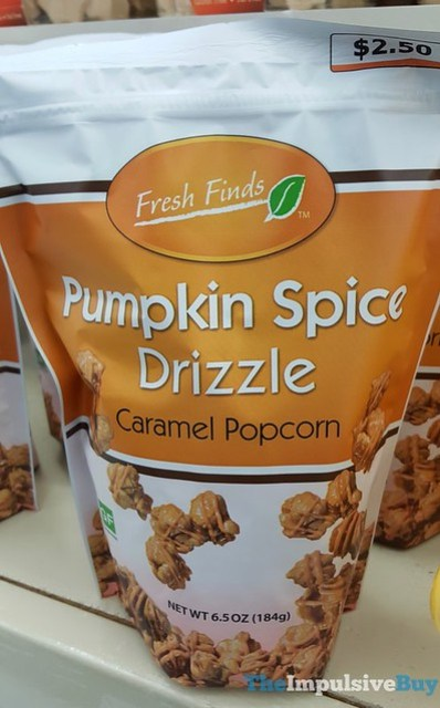 Fresh Finds Pumpkin Spice Drizzle Caramel Popcorn
