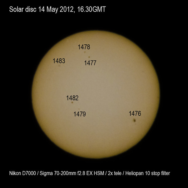 Solar disc 14 May 2012