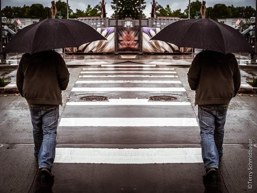 Shadows in the Rain by Terry Schmidbauer