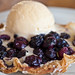 Almond Crusted Blueberry Tart with Vanilla Bean Ice Cream