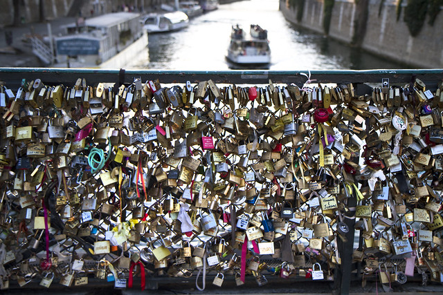 Love locks in Paris.