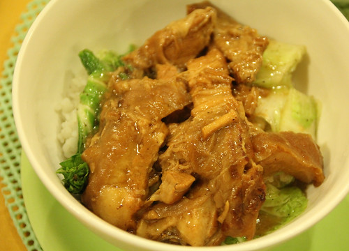 Chinese pork belly at Lachi's