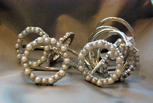 White Pearl Napkin Rings (8)