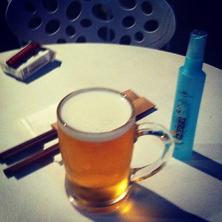 Chopsticks, beer and bugspray. Summer in #shanghai!