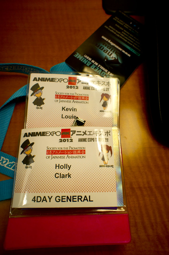 Anime Expo 2012 badges