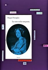 """Beppe Fenoglio, La voce nella tempesta. Da """"Le cime tempestose"""" di Emily Brontë, Einaud 1974. i coralli 298. Prima di sovracoperta"""