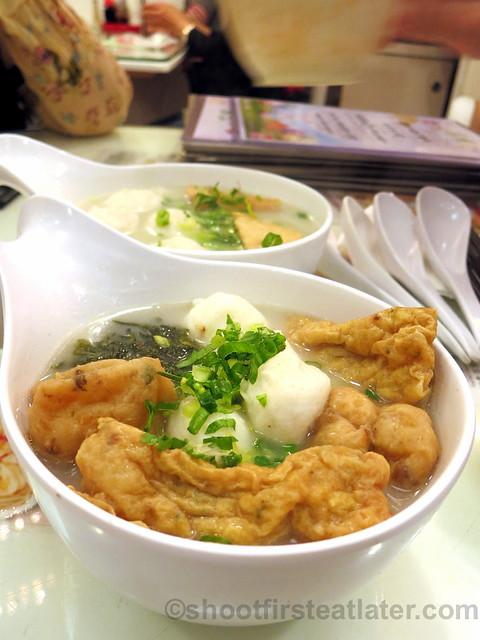 fish combination & seaweed in fish soup HK$39