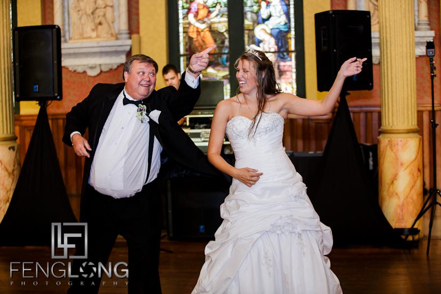 Fun Father/Daughter Dance | Sarah & Alex's Wedding | Sacred Heart Cultural Center | Augusta Destination Wedding Photographer