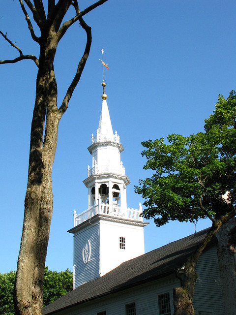 Bell Tower of Church of Christ Congregational of Norfolk circa 1813
