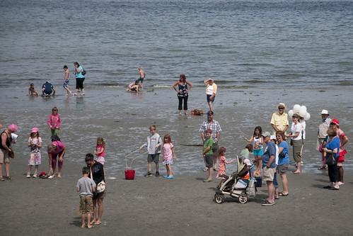 Beach play at Qualicum Beach Day
