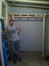 Closet framing finished