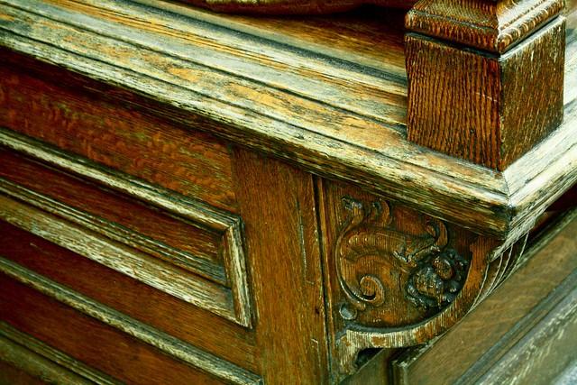 weathered wood, shop window