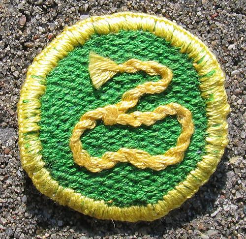 Moonrise Kingdom Khaki Scouts of North America Lasso Badge