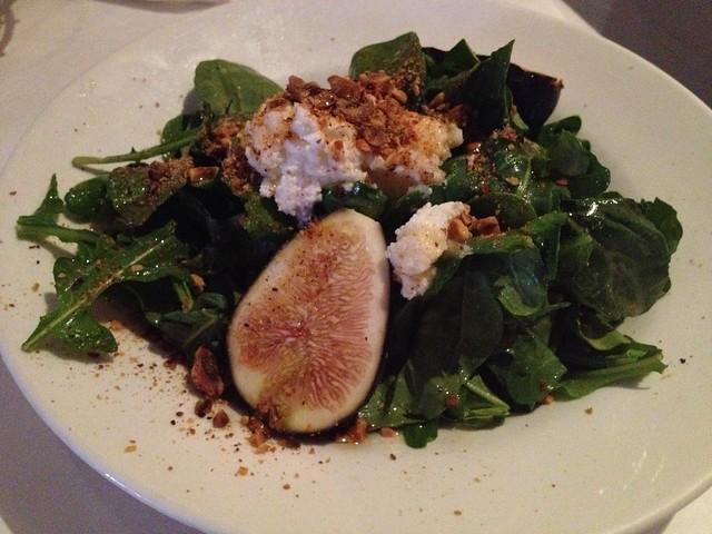 Fresh fig salad - Trio Restaurant