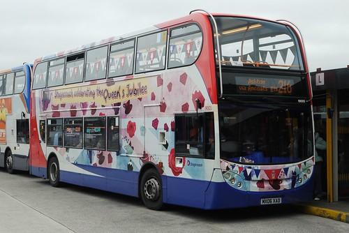Enviro 400 MX06 XAD, Stagecoach Manchester (Diamond Jubilee livery), Ashton-under-Lyne Bus Station
