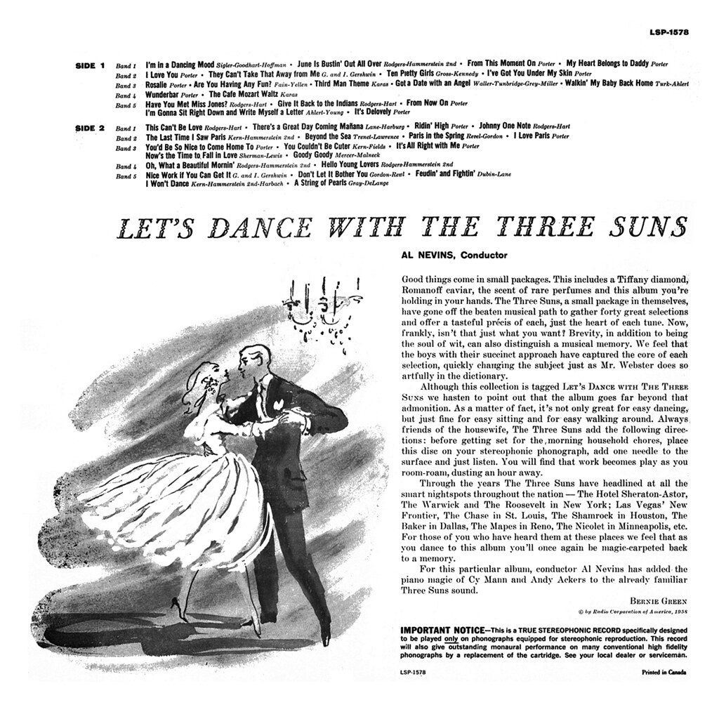 The Three Suns - Let's Dance with The Three Suns