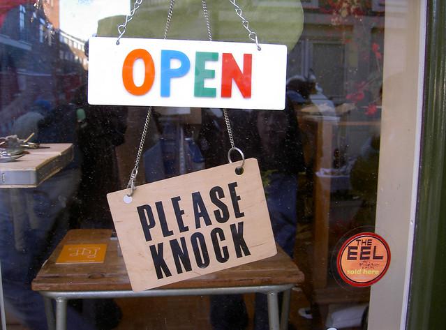 Open - please knock