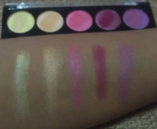 L.A. Colors 5 Metallic Eyeshadow Wildflower swatches shot
