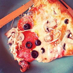 Just found 2 other people that love the same pizza as me #photoadaymay #unusual pepperoni mushroom & black olive