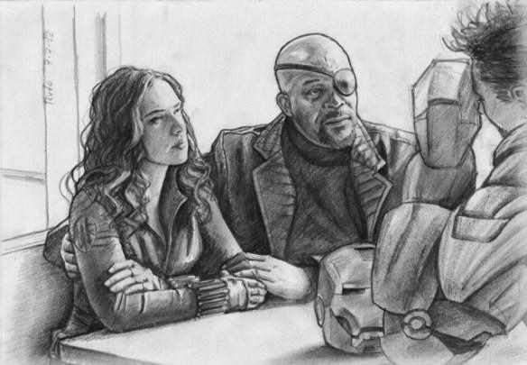 Avengers - Natascha Romanoff & Nick Fury