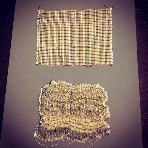 collapse weave - before and after