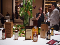 Rare whiskies table. Whisky Live Singapore 2012, St. Regis Hotel