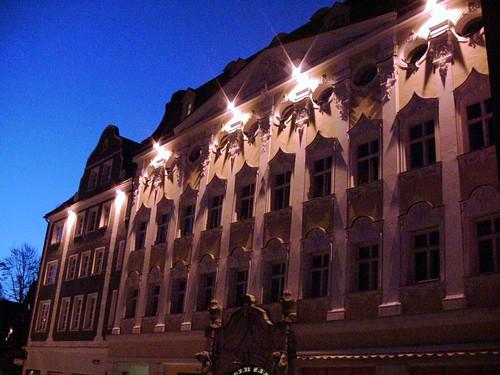 Kempten, nachts unterwegs , Patrizierhaus,  44-68