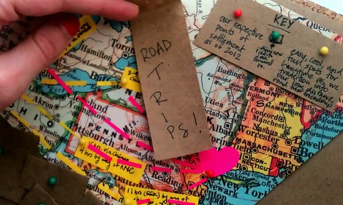 Road trip map/collage