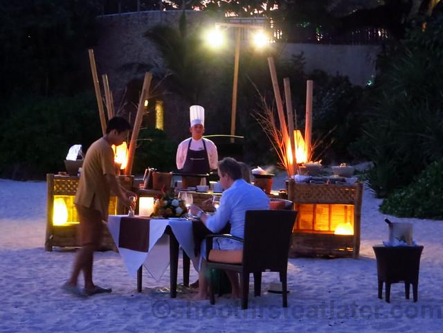 Shangri-La's Boracay Resort & Spa- special beachside dinner