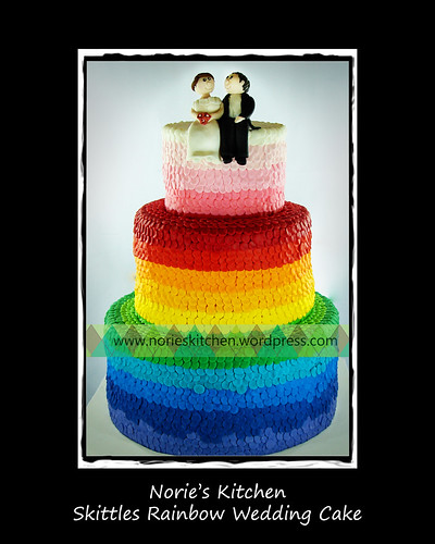 Norie's Kitchen - Skittles Rainbow Wedding Cake by Norie's Kitchen