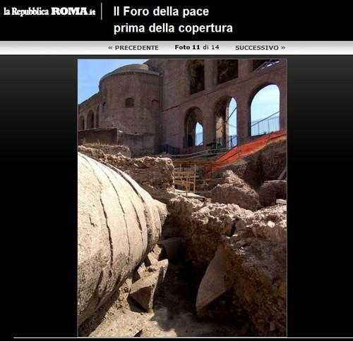 ROMA ARCHEOLOGIA, I FORI IMPERIALI: Scavi al Foro della Pace alla luce i tesori di Vespasiano, LA REPUBBLICA / FOTO (24/05/2012), p. 17. by Martin G. Conde
