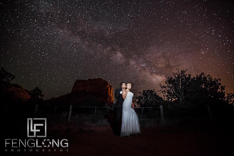 Milky Way + Bride & Groom | Ashley & Gaurav's Hindu Indian Wedding | Poco Diablo Resort | Sedona Arizona Destination Wedding Photographer